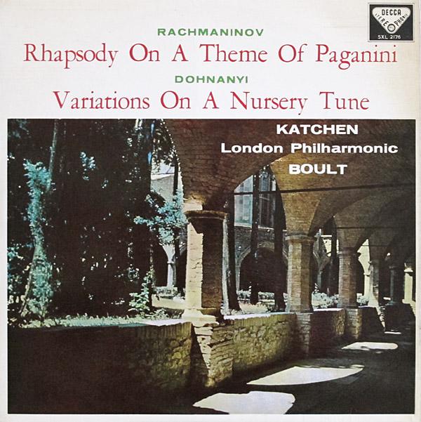 Katchen Rhapsody On A Theme Of Paganini front